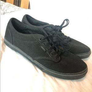 Black on black womens vans